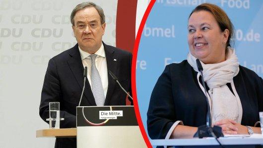 Armin Laschet (CDU) wurde von CDU-Kollegin Ursula Heinen-Esser über den Klee gelobt – das sorgte bei einigen Zuschauern regelrecht für Fremdscham.