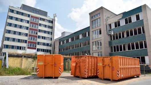 Aktuelle Außenansicht auf das Gebäude der Klinik für Innere Medizin in Lobeda.