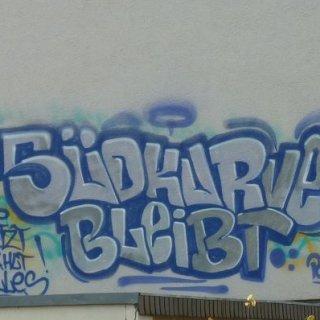 Jena wird von Südkurve-Graffiti regelrecht überzogen.
