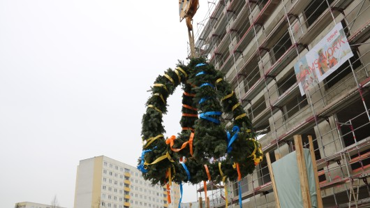 Am Dienstag wurde in Jena-Lobeda Richtfest gefeiert.