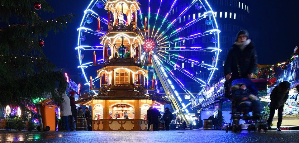 Der Weihnachtsmarkt in Jena.