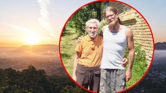 Jena: Er ist 80 Jahre alt und möchte seine erste große Liebe wiedertreffen. Stefan (links) und sein Freund Ben.