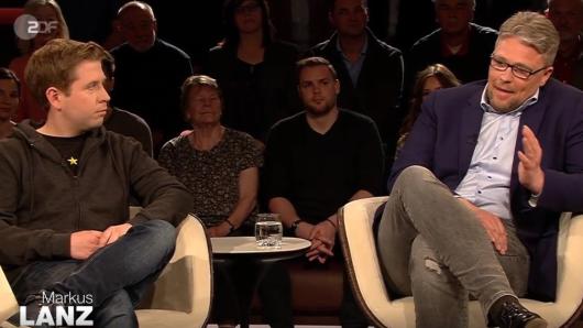 Bei Markus Lanz im ZDF waren Guido Reil (re., AFD) und Kevin KÜhnert (SPD) zu Gast.