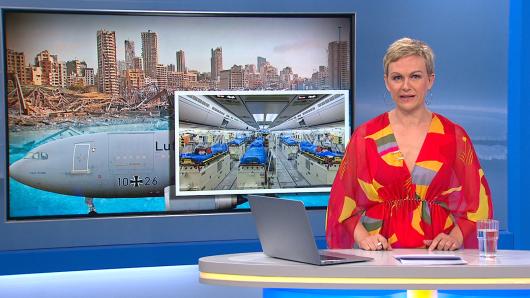 Frühstücksfernsehen-Moderatorin Karen Heinrichs musste als Nachrichtensprecherin einspringen.