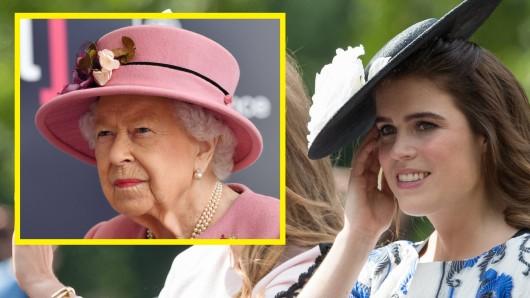 Prinzessin Eugenie mit Queen Elizabeth