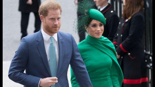 Prinz Harry und Meghan Markle im März 2020, kurz vor ihrer Ausreise in die USA.