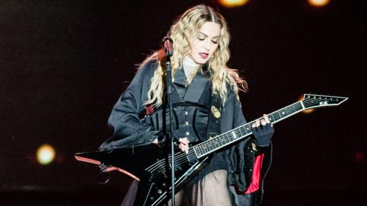 Sängerin Madonna bei einem Konzert in Belgien im Jahr 2015.