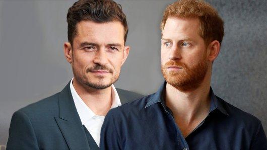 Schauspielstar Orlando Bloom schickte Prinz Harry eine alarmierende Nachricht.
