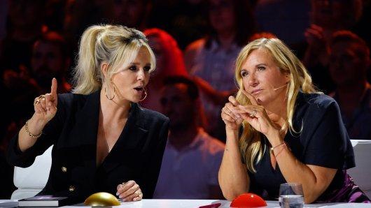 Supertalent: Andrea Kiewel feiert Premiere in der RTL-Show (rechts).