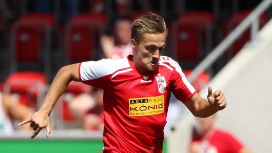RWE-Spieler Morten Rüdiger traf gegen Berlin doppelt. (Archivbild)
