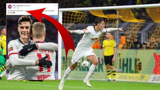RB Leipzig hat nach dem Unentschieden in Dortmund offensichtlich ordentlich gefeiert.