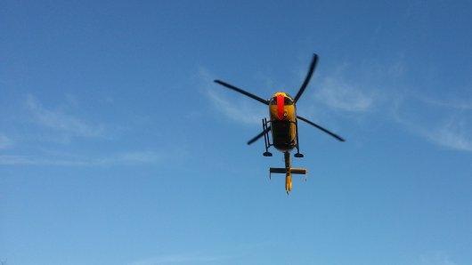 Nach dem Unfall in Ilmenau kam auch ein Rettungshubschrauber zum Einsatz.