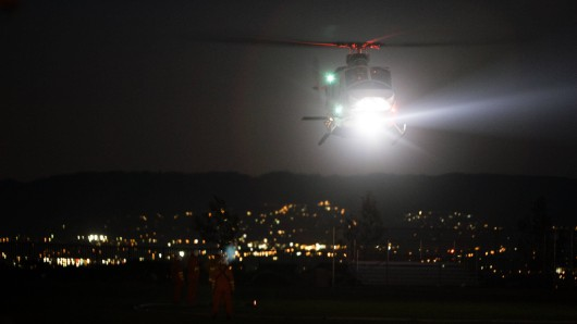 Auch die Suche mit einem Hubschrauber in der Nacht über Apolda führte noch nicht zum Opfer des Messerangriffs an der Flüchtlingsunterkunft. (Symbolfoto)