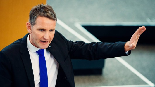 Björn Höcke im Plenum im Thüringer Landtag