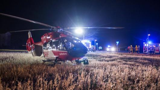Ein schwerverletzter Mann musste in Thüringen mit Rettungshubschrauber in die Klinik geflogen werden.