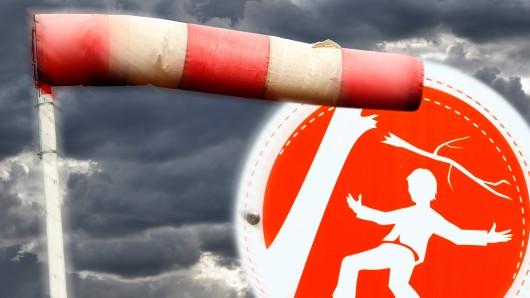 Vorsicht: Es muss mit heftigen Winden in Thüringen gerechnet werden. (Symbolbild)