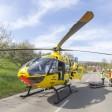 Schwer verletzt musste der Mann bei Uder per Hubschrauber ins Krankenhaus gebracht werden. (Symbolbild)