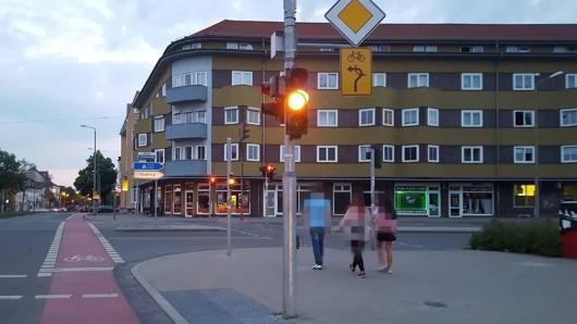 Am Talknoten, wo sich in Erfurt Magdeburger Allee und Stauffenbergallee treffen, wird in der kommenden Woche gebaut.