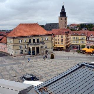 Der erste Streit entflammte mitten auf den Marktplatz von Sondershausen. (Archivfoto)