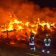 Bei dem Feuer in Wenigenlupnitz (Wartburgkreis) kam es zu starker Rauchentwicklung. Die Bevölkerung wurde deshalb gewarnt. (Symbolfoto)
