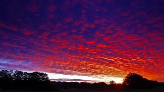 In den Abend- und Morgenstunden durften Thüringer die Woche ein spektakuläres Farbenspiel am Himmel bewundern. (Symbolbild)
