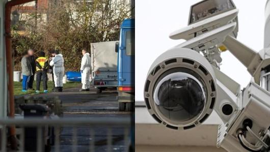 Offenbar ist der mutmatßliche Mörder an dem Tatort in Nordhausen von einer Überwachungskamera aufgezeichnet worden.