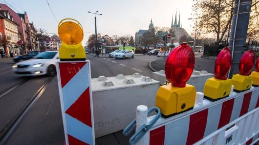In den Sommerferien gibt es in Erfurt ein Nadelöhr: Die Andreasstraße am Domplatz wird gesperrt