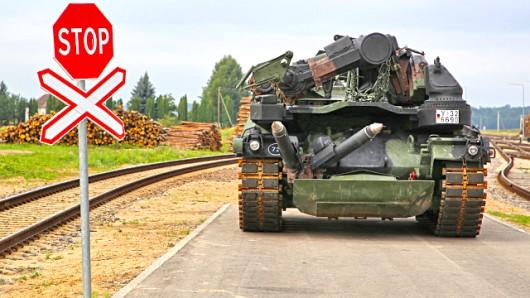 Fotomaterial der Bundeswehr über Einsatz der Enhanced Forward Presence Battlegroup (EFP) in Litauen nahe der russischen Grenze.