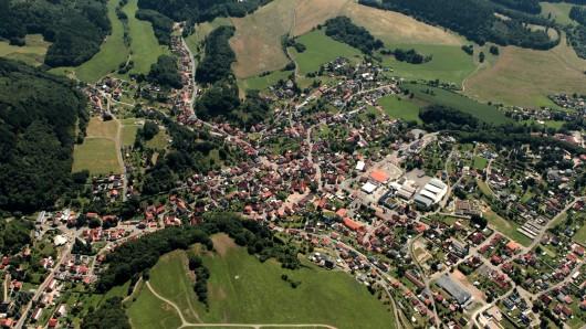 Blick auf Trusetal im Landkreis Schmalkalden-Meiningen