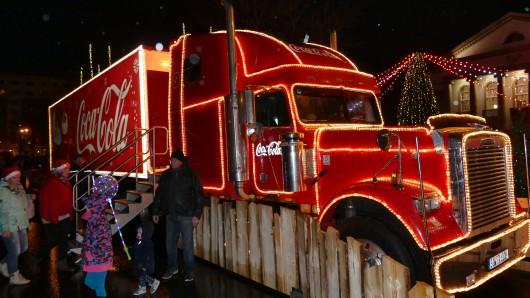 Am ersten Advent machte der Weihnachtstruck Halt in Nordhausen
