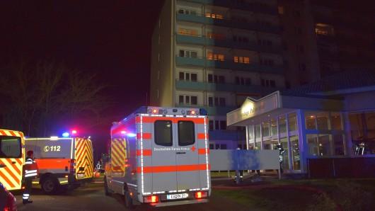In Eisenach hat es am Montag (14.01.2019) gebrannt. Der Wohnblock im Palmental musste evakuiert werden.