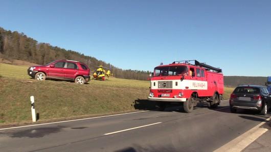 Bei Orlamünde hat ein Mann am Montag (19.02.2019) während der Fahrt auf der B88 bei Orlamünde einen Herzinfarkt erlitten.