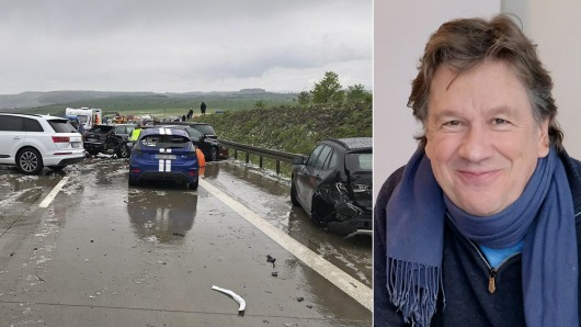 TV-Moderator und Meteorologe Jörg Kachelmann hat das Wetter zur Massenkarambolage auf der A71 analysiert.