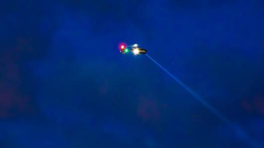 Mit einem Hubschrauber suchte die Polizei im Saale-Orla-Kreis nach dem Vermissten. (Symbolbild)
