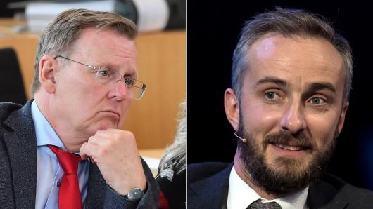 Bodo Ramelow und Jan Böhmermann haben sich über Twitter zur Nationalhymne ausgetauscht.