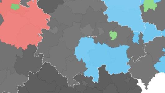 Die Europawahl in Thüringen hat der AfD große Gewinne beschert. Die interaktive Karte findest du unten.