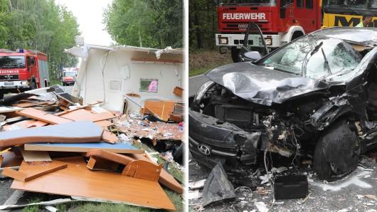 Ein verheehrender Unfall hat sich in Thüringen auf einer Bundesstraße bei Greiz ereignet.