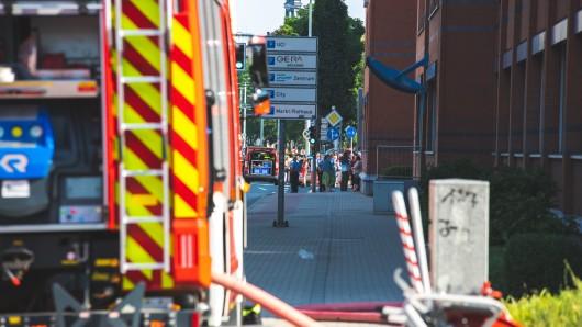 In der Agentur für Arbeit in Gera ist ein Feuer ausgebrochen. Das Gebäude wurde evakuiert.