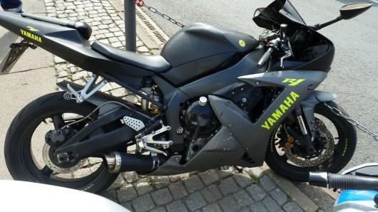 Mit diesem Motorrad bretterte ein 20-Jähriger in Thüringen durch die Fußgängerzone.