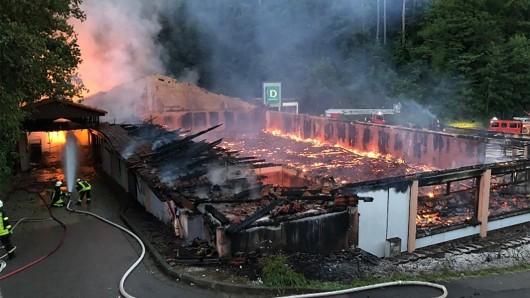 Brandstiftung in Thüringen: Anfang Juli stand der ehemalige Aldi in Flammen.