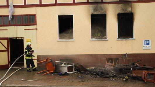 In einer Gaststätte in Ershausen in Thüringen ist ein Feuer ausgebrochen.
