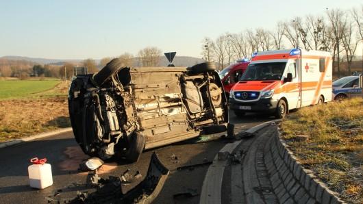 Einen schlimmen Unfall hat es in Thüringen in der Nähe von Nordhausen gegeben.