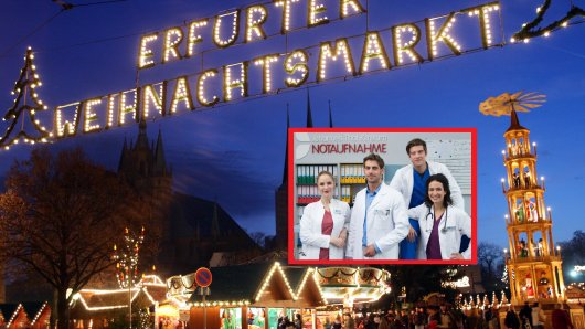 """Die Stars von """"In aller Freundschaft – die jungen Ärzte"""" haben eine Überraschung für alle Fans auf dem Weihnachtsmarkt Erfurt."""