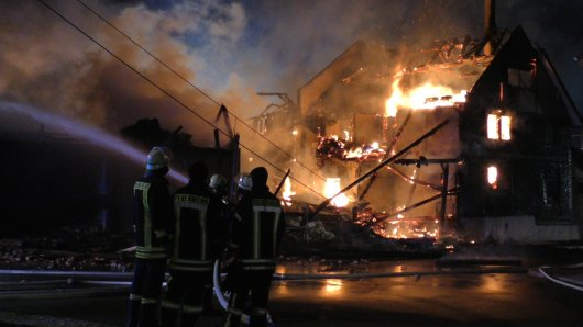 Thüringen: Ein Wohnhaus im Wartburgkreis ist bis auf die Grundmauern niedergebrannt.