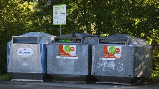 Auf einem Containerplatz Ilmenau, Thüringen, wollte das Paar den Müll loswerden. (Symbolbild)