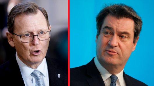 Thüringens Ministerpräsident Bodo Ramelow und Bayerns Landeschef Markus Söder kommen nicht auf einen grünen Zweig.