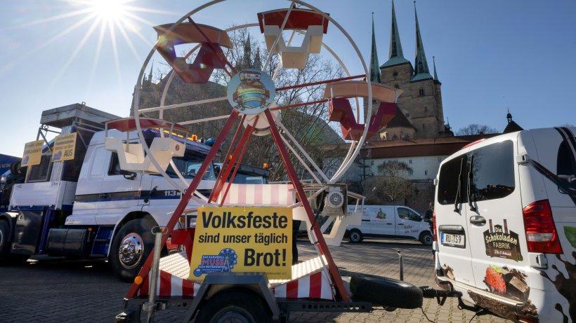 Corona in Thüringen: Autokorso in Erfurt – Schausteller wollen auf prekäre Lage aufmerksam machen