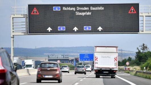 Auf der A4 bei Apolda hat es am Dienstagmorgen einen schweren Unfall gegeben. (Symbolbild)