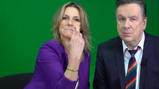 Die Riverboat-Moderatoren Kim Fisher und Jörg Kachelmann lassen sich nicht alles gefallen.