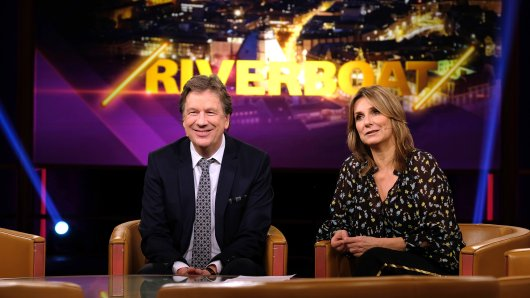 """Kim Fisher und Jörg Kachelmann moderieren mittlerweile schon seit sieben Jahren die MDR-Talkshow """"Riverboat""""."""